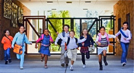 kids-running-out-school